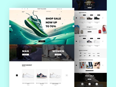 Foot Placard - Online Store webdesign landing animation motion store ecommerce nike product web design ui design uiux landing page design sport shoes app clean ui branding website