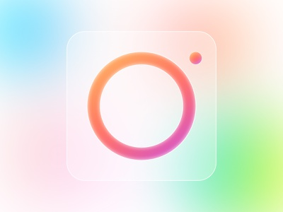 Instagram Logo app icon icons iphone ios branding brand illustration instagram app color lens camera typography vector icon ux ui logo