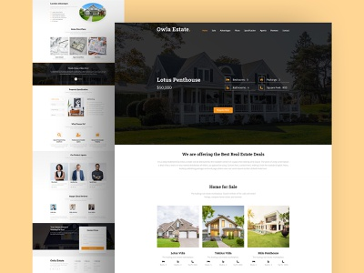Owla Estate - Real Estate Website sale cleaning buy rent agent website branding clean ui design uiux ui design web design home house real estate listing motion animation landing webdesign