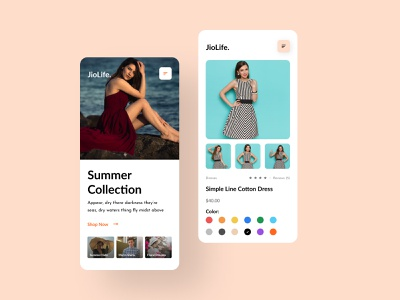 JioLife E-commerce Website - Mobile Version ui uiux ui design uidesigner mobile ui mobile version responsive responsive website responsive web design web design landing shop fashion ecommerce online store responsive website design website clean