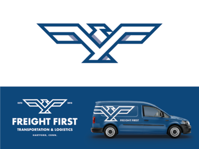Freight First shipping management shipping logo logodesign eagle eagles bird bird icon bird logo eagle logo f logo trucking transportation logistics amercian americana badge badge logo badge design