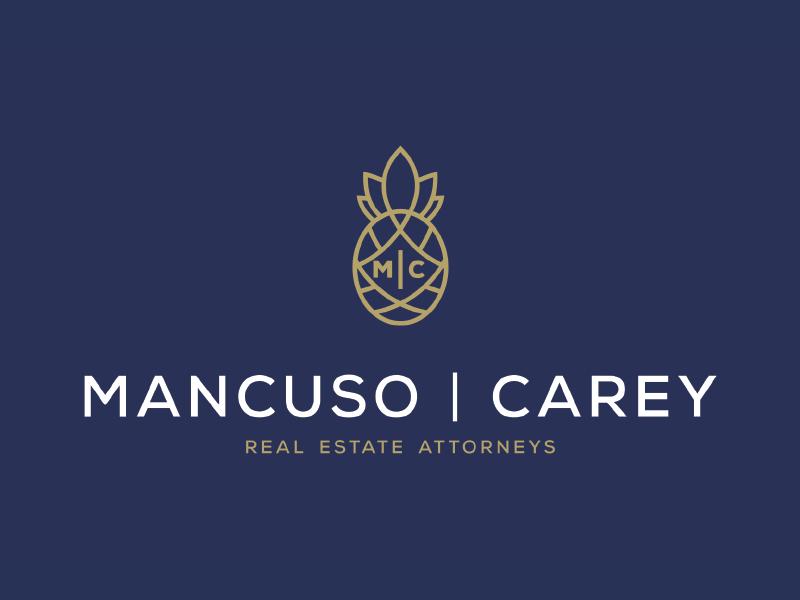 Mancuso | Carey Real Estate Attorneys mc house lawfirm logo design professional identity branding law logo law office badge logo badge logo pineapple home housing law real  estate lawyer legal logo lawyer logo