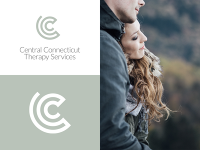 Central Connecticut Therapy Services terapist therapy healthcare mental health logo design branding design identity design c logo monogram c monogram badge logo badge design therapist logo therapy logo divorce relationships connecticut logo design concept marriage marriage counseling