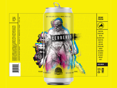 Cerberus IPA 2 greek gods hercules package mockup packagingdesign packaging mock up packaging design package new england ipa craft beer branding agency beer labels beer label design beer label beer branding beer art beer graphic design cerberus dog