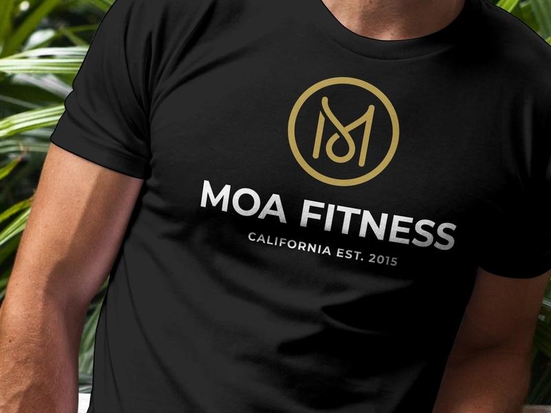 Moa Fitness 2  Shirt Mockup fitness logo gym logo crossfit crossfit logo fitness logo logo design badge logo design graphic design badge badge design branding badgedesign identity monogram identity design badge hunting lettering branding design