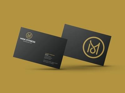 Moa Fitness  Business Card Mockup