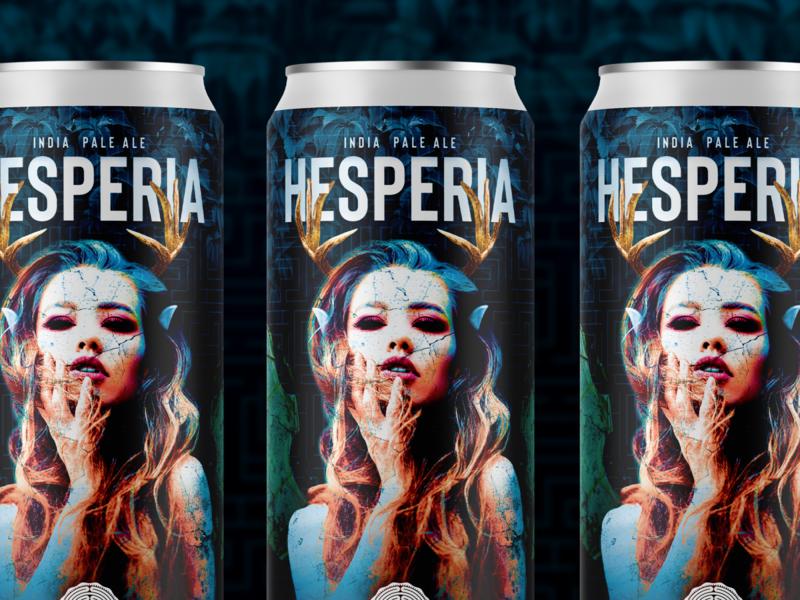 Hesperia IPA beer bottle beer can graphicdesign graphic design thedieline packagingpro packaging mockups package mockup packagedesign beer art beer branding beer label photoshop branding packaging design packaging package design can art craft beer beer