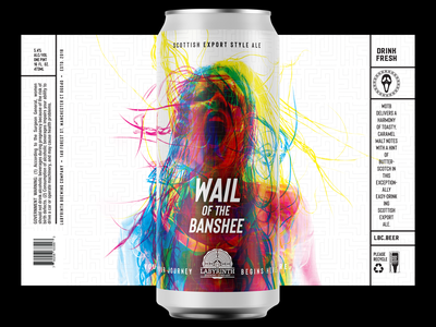 Wail of The Banshee logo branding thedieline can art can mock-up labels label packaging labeldesign branding design packaging design package design packaging package beer branding beer label beer can beer art beer