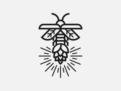 Firefly monogram identity insect firefly badge graphic design design badge logo logogame logo design logodesign logogram logos logotype logo