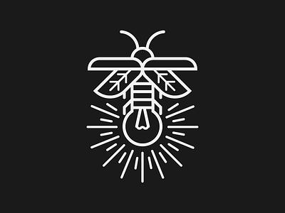 Firefly 2 badge design branding monogram insect firefly badge graphic design design badge logo logo design logo