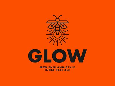 Glow branding design identity design identity badge design branding graphic design badge logo logo design logo packaging design package design beer