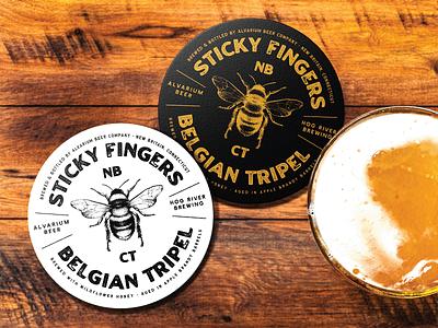 Sticky Fingers Belgian Tripel packaging package design beer branding beer label packagedesign badgedesign badge design badge branding design graphic design badge logo logo design logo