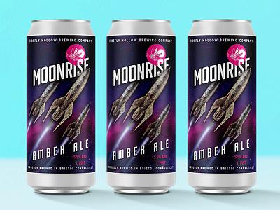 Moonrise  Amber branding design graphic design packaging design package design packaging package badge logo logo design beer branding beer label beer art beer beer can logo