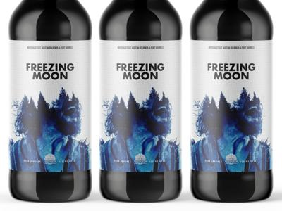 Freezing Moon 1 product design package packaging design package design packaging branding design branding mockup psd mockup bottle mockup bottle design bottle label beer branding beer art beer can beer label beer