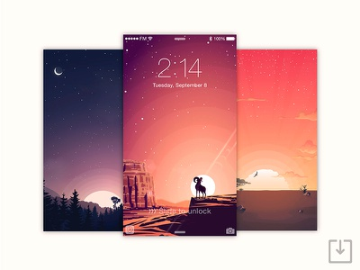 Sunset Wallpapers - Free Download download clouds moon illustration stars goat africa sun sunset wallpapers ios