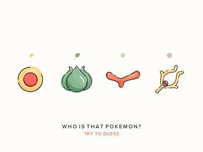 Pokemon Quiz Icons! mobile app icons pikachu color colorful game design game illustration geek pokeball pokemon