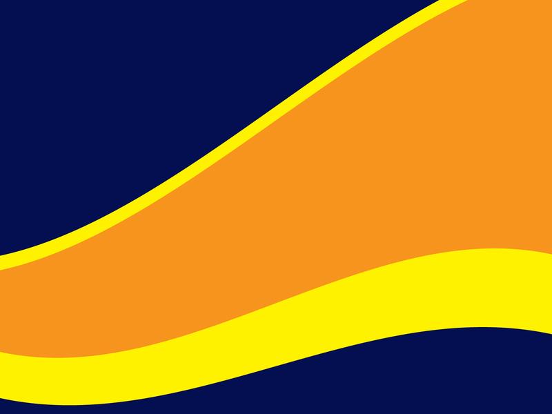 Waving pattern vintage landscape design abstract waves yellow orange blue illustration