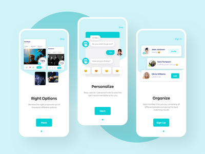 Onboarding for Eezy App ux uiux ui app message onboarding ui activities ai onboarding