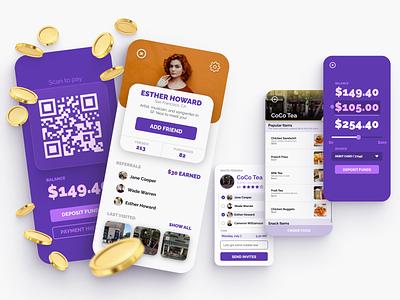 Chip Payment App mobile app design flat reward payment figma ui uiux mobile uidesign app design