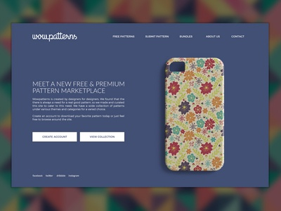 Daily UI #003 - Landing Page creative minimal landing color ux simple design web website dailyui100 dailyui ui