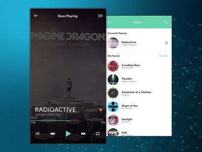 Daily UI #009: Music Player ux music player creative minimal music simple design app mobile dailyui100 dailyui ui