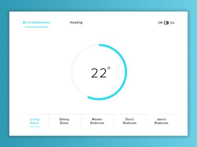 Daily UI #021 : Home Monitoring Dashboard creative minimal landing color ux simple design dashboard home dailyui100 dailyui ui
