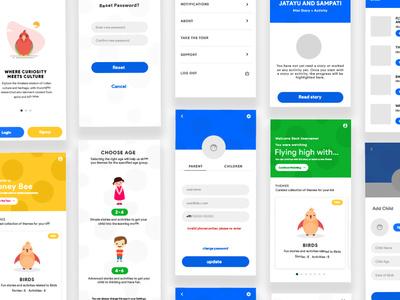 Learning App for Kids visual design app mobile minimal kids kids app illustration creative color ui design