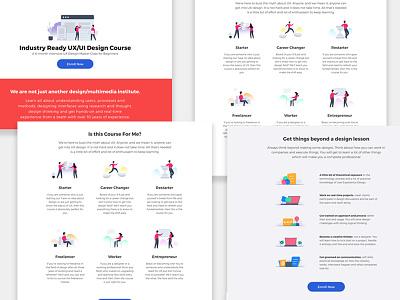 Studio Training - Landing Page visual web landing website illustration minimal simple creative color ux ui design