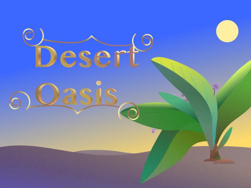 Desert Oasis illustration desert oasis