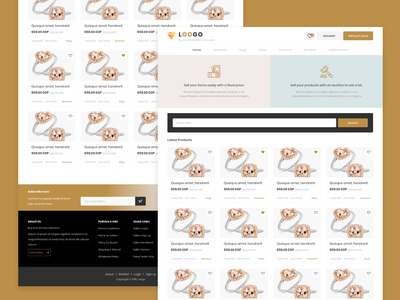Jeweler E-Commerce Website adobe xd xd jewelry landing homepage website web ui design design ui ux