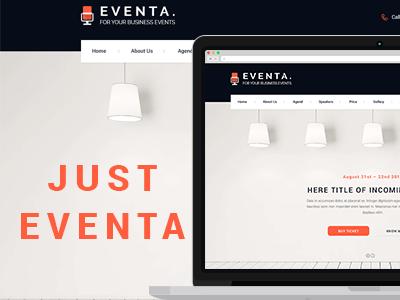Eventa Version 1.0 web design corporate ux ui events clean psd