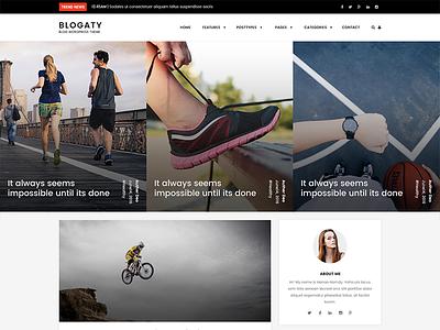 Blogaty ui design homepage community agency web ux website photoshop landing