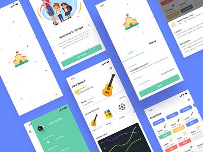 Ikinder App (EN-AR) iphonx ios ux design ui design ui  ux design ui  ux photoshop sketch kids school app design ui ux