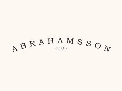 Abrahamsson Co. logo branding identity store etsy