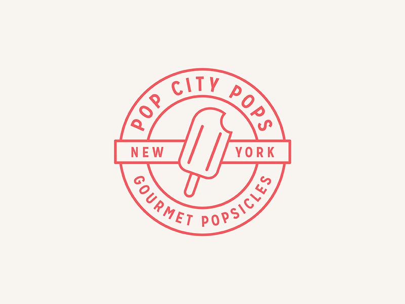 Pop City popsicle pop illustration branding identity logo