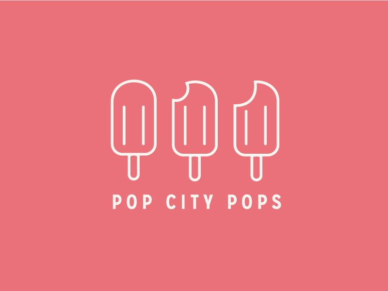 Pop City Variation pop popsicle logo illustration