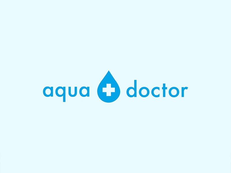Aqua Doctor design typography branding identity logo