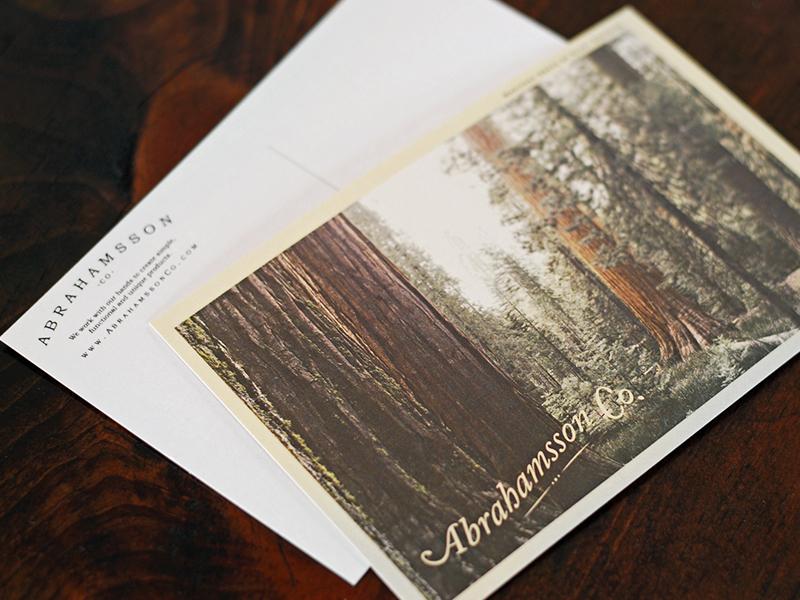 Abrahamsson Co. Postcards abrahamsson abrahamssonco postcard design postcard design identity branding logo