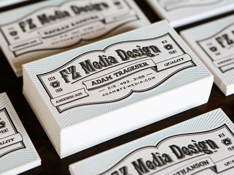 FZ Media Letterpress letterpress lettra typography vintage design icon keystone ribbon type old american adam trageser business card hand letter cards sexy photo layout branding retro