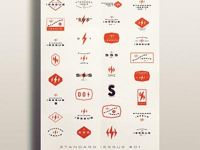 Standard Isssue No.1 packaging old branding type vintage typography logo print design retro lettering