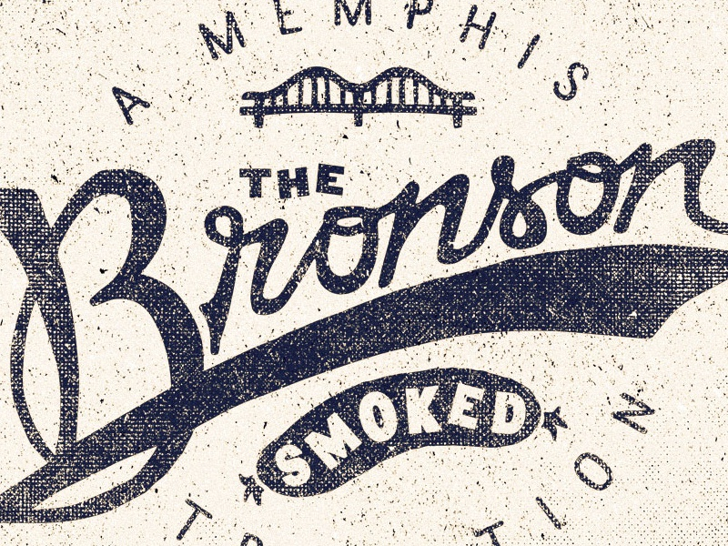 The Bronson  brand two left branding adam trageser logo lettering vintage retro old type typography