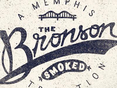 The Bronson  brand two left branding adam trageser logo lettering vintage retro old type typography