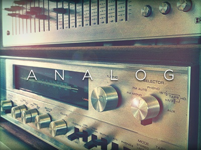 Analog retro hipster shit analog dials knobs old school glory days controls original ui sweet gotham tritone fun just for fun. adam trageser