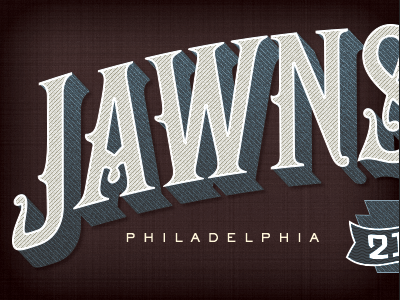 Jawnstown jawnstown philly pa philadelphia 1up jawn typography lettering adam trageser vintage type