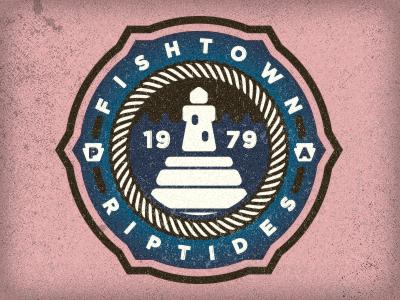 Fishtown Riptides riptides lighthouse fishtown fish philly design philadelphia water pier logo adam trageser badge patch