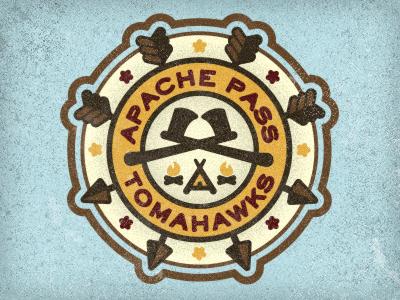 Apache Pass Tomahawks indian design teepee camp arrow usa apache pass tomahawk badge icon star logo fire patch adam trageser