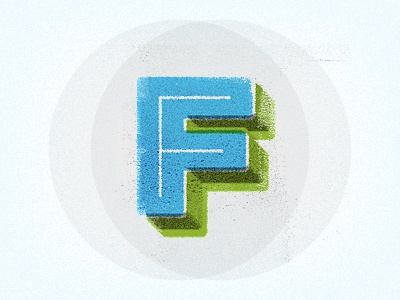 ef circle print color screenprint texture f type bold 3d cosmic font subtle letter lettering inline philadelphia philly two left two-left adam trageser typography