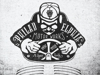 Philadelphia Motor Works pa philadelphia typography design motor lettering works motor works vintage logo two left race racecar racer signage sign 1776 hand illustration hand done font america shirt old texture liberty bell american adam trageser type retro