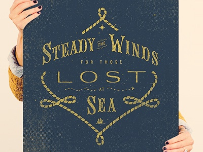 Help Ink - Steady The Winds two left co adam trageser lettering design typography illustration type vintage hand texture old sea nautical rope america help ink sign ship print x winds north star map polaris helpink retro hand done
