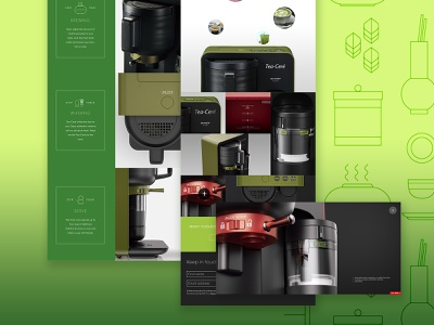 SHARP Tea Ceré illustration website ux icon animation web ui design typography concepts